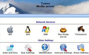 unRAID NAS software screenshot